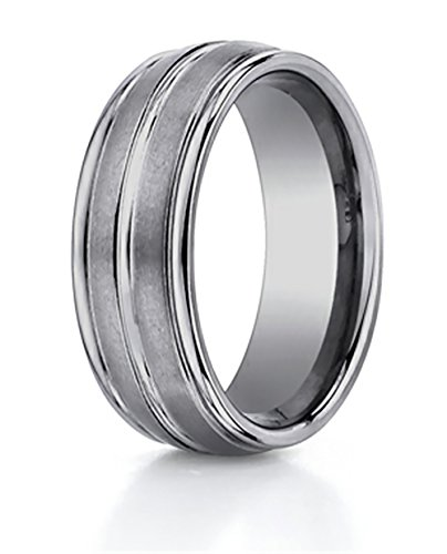 8mm Comfort Fit Tungsten Carbide Wedding Band/Ring Size ()