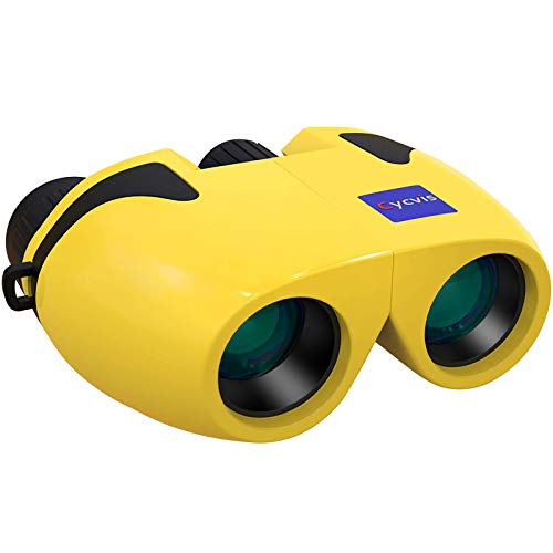 Cycvis Binoculars for Kids, Mini Binoculars for Bird Watching, High Definition Optics Small Binoculars, Kids Binoculars for Travel Exploring Nature Hiking, Yellow