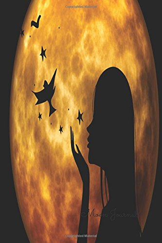 Read Online Moon Journal: Lady Notebook To Write In For Men, Women, Girls, Boys, Blank, Unlined, Unruled, Empty Journal 6inx9in 200 Pages (Blank Books) ebook
