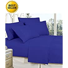 Elegant Comfort 4-Piece Bed Sheet Set With Deep Pockets, Queen Royal Blue