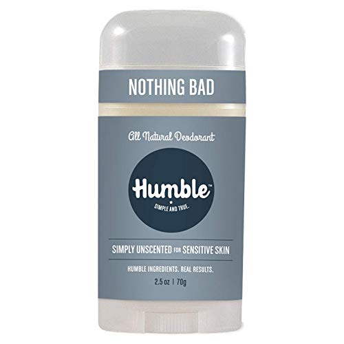 Humble All Natural Deodorant, Aluminum and Paraben Free, Cruelty Free Men's and Women's Deodorant, Simply Unscented, 1-Pack