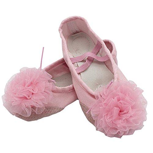 lisianthus002Little Kid Ballett Blume Schuhe Split Sole Rose