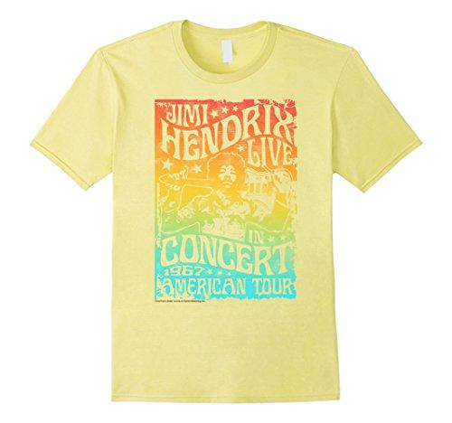 Mens Jimi Hendrix Rainbow Gradient Vintage Concert Poster T-Shirt 3XL (Classic Concert Posters)