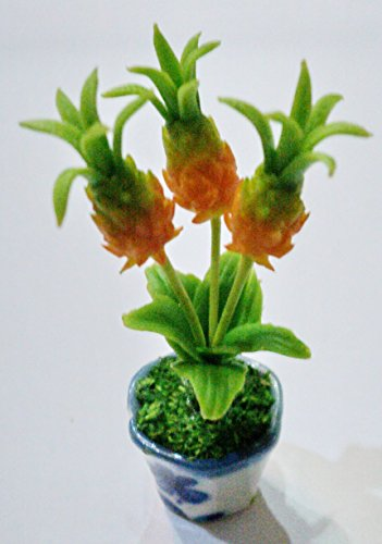 Dollhouse Miniatures Handmade Clay Flower Plant Pot Garden Supply Home Decor # 006