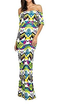 Syktkmx 2017 New Fashion Women Off Shoulder Floral Print Floral Maxi Dress Strapless A-Line long dress plus size(S-XXL)