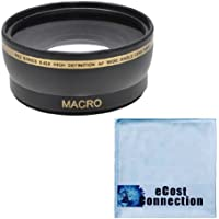 Pro Series 58mm 0.43x Wide Angle Lens + Microfiber Cloth Microfiber Cloth for Olympus 70-300mm 4-5.6 Zuiko ED Zoom Lens, 40-150mm 4-5.6 Zuiko ED Zoom Lens, 14-42mm 3.5-5.6 Zuiko ED Zoom Lens and Other Models