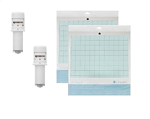 2 Silhouette Cameo 3 Autoblades and 2 - 12 x 12 Inch Silhouette Cameo Cutting Mats by Silhouette America