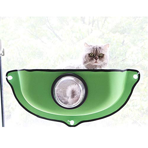 A  Pink day-us Cat Hammock Hanging cat Litter Creative Space Capsule Window sill Sun Warm Bed EVA Suction Cup nest cat Hammock 73  35  15 (color   A )