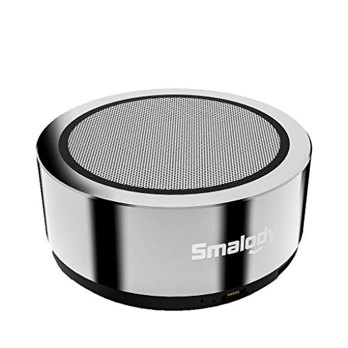 TOTAMALA Wireless Bluetooth Speaker Portable Zinc Alloy Cannon Mini 3D HiFi Stereo TWS Amazing Bass Stereo Surround HD Audio Enhancement Bass Silver
