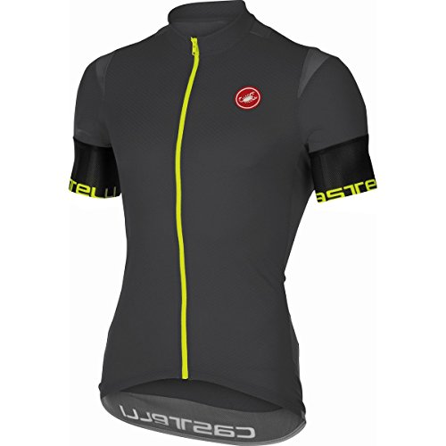 Castelli Entrata 2 Men's Road Cycling Jersey Full-zip Anthracite Medium
