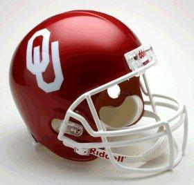 NCAA Oklahoma Sooners Deluxe Replica Football Helmet (Oklahoma Replica Helmet)