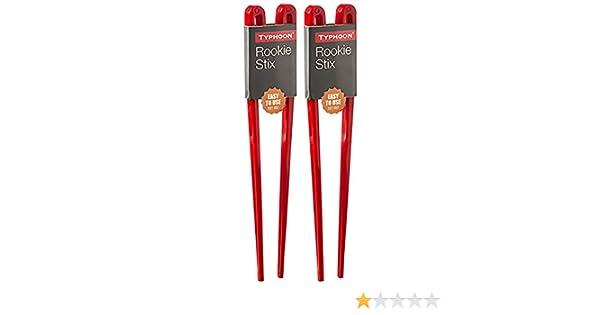 2 x Pared de Palillos Chinos Fáciles de Usar de Plástico Rojo (Rookie Stixs): Amazon.es: Hogar