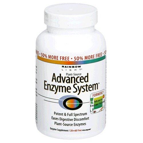 Rainbow Light Système d'enzymes d'origine végétale avancée Vcaps 180 Vcaps