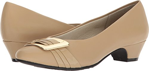 - Soft Style by Hush Puppies Women's Pleats Be with You Pump, Starfish Kid/Patent, 09.0 M US