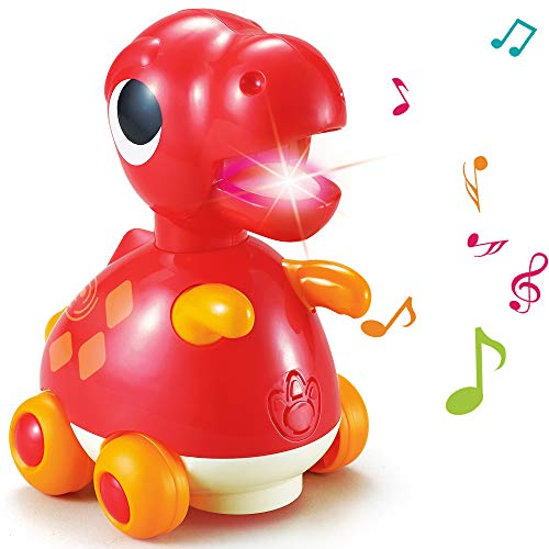 TINOTEEN Dinosaur Toys Baby Musical Crawling Flashing Early Learning Educational Toy for Toddlers Kids