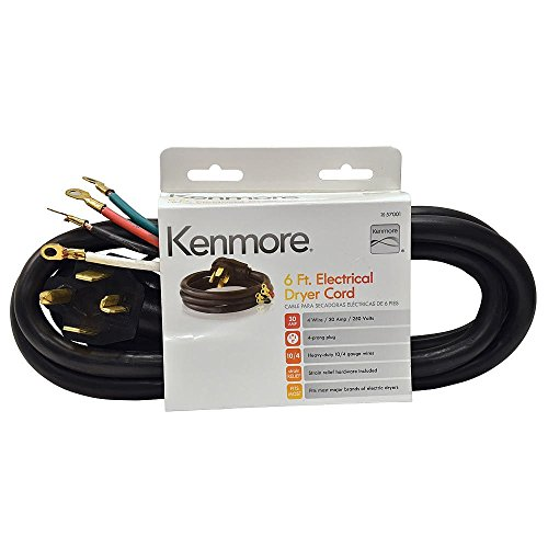 Kenmore, 4 Conductor, 5' Dryer cord (Kenmore Cord)
