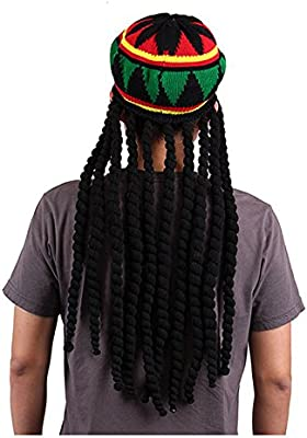 REFURBISHHOUSE Rasta Sombrero Boina jamaicana Gorra de Estilo ...