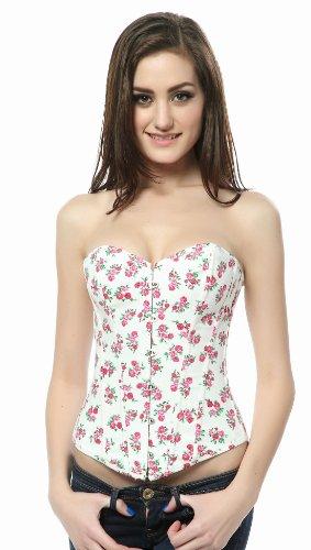 Ivy Shi Damen Vollbrust Cotton Plastic Stäbchen Schnürung hinten Corsage