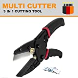 3 in 1 Power Cutting Tool With Built-In Wire Cutter Utility Knife & Pruning Shears - Multi Utility Cutter / Pliers - Handi Cut Set For wire, Gardening, Rope,all types of hoses and more.