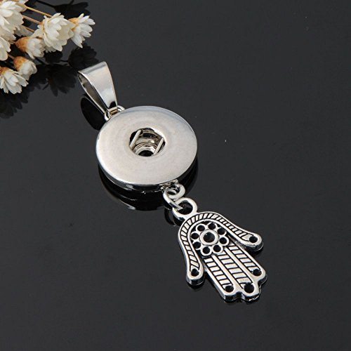 Claddagh Medallion - 1pc Crystal Alloy Pendant for Fit Noosa Necklace Snap Chunk Button OP7V
