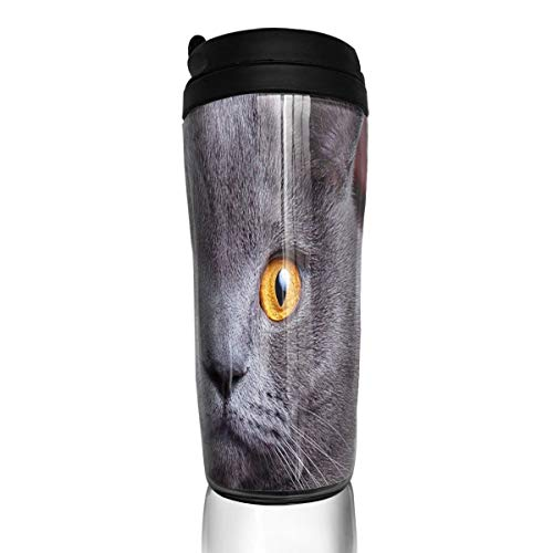 fc80bb140d Bei Tang Coffee Cup Bright Eyes Short Cat Travel Tumbler Insulated Leak  Proof Drink Containers Holder Vintage 12 Ounces