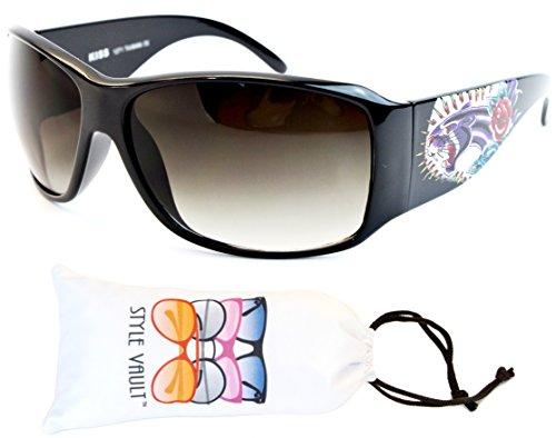 Wm19-vp Style Vault Rectangular Oversized Sunglasses (B1856F Jaguar Black-smoked, - Jaguar Glasses