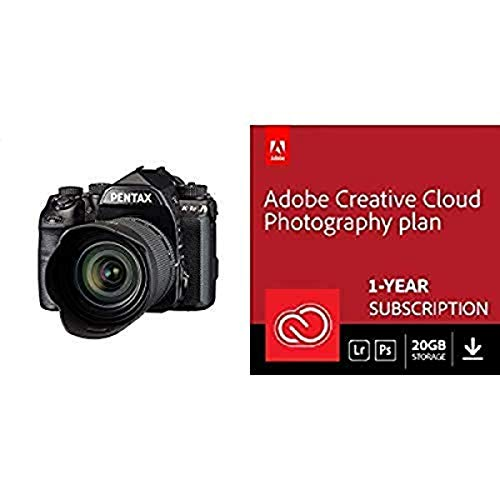 Pentax K-1 Mark II 36MP Weather Resistant DSLR w/D-FA 28-105 WR Lens, Black with Adobe Creative Cloud Photography Plan…