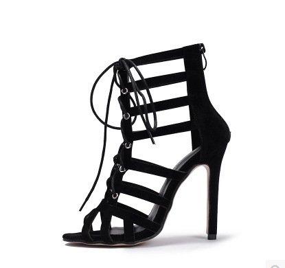 ZHUDJ High Heels_Strap Peep Toe Pumps Sandalen Thirty-six