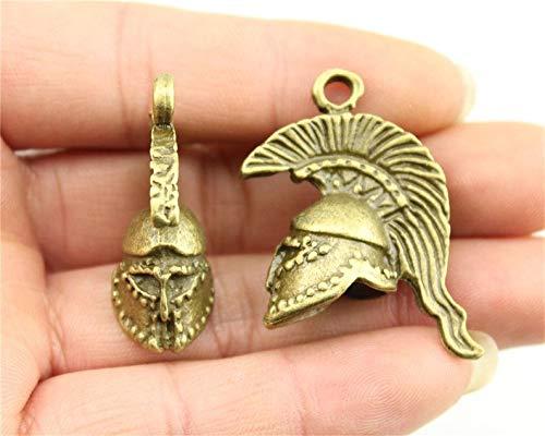 (Roman Helmet Charm, Antique Bronze Tone (1G-120))