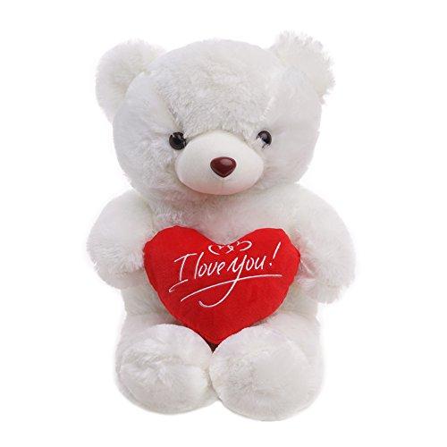 Regalo para Día de San Valentín - Osito de Peluche con Sensación de Felpa Suave - Oso de Juguete Grande 45cm - Teddy Tierno y Romántico para Pareja, ...