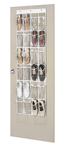 24 Pocket Floor (Whitmor 24 Pocket OTD Shoe Organizer Clear)