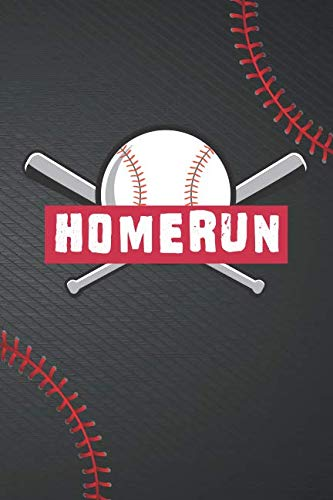 Homerun: Softball Notebook (Journal, Diary). Composition Book College Ruled Lined Paper. 6