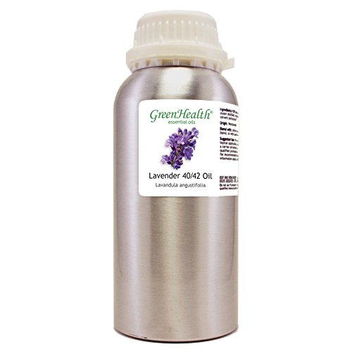 GreenHealth Lavender 40-42 - 32 fl oz (946 ml) Aluminum Bottle w/Plug Cap - 100% Pure Essential Oil