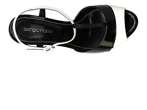 110 Rossi Patent Sandals Platform Mafv11 1498 Sergio Number Black Model Leather A73250 FPxdW1S