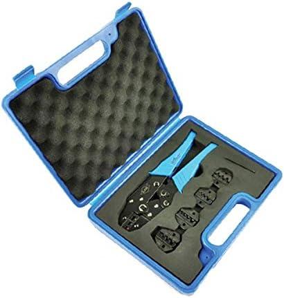 ケーブルカッター 圧着プライヤー 1つの圧着工具 4つの交換可能な圧着ダイキット 圧着工具セット 圧着ペンチ 手動ケーブルカッター