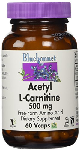 Bluebonnet Kosher Amino Acid - Bluebonnet Acetyl L-Carnitine 500 mg Vitamin Capsules, 60 Count