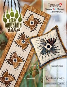 Rocky Mountain Bear Claw Tablerunner and Pillow Paper Piecing Pattern by (Rocky Mountain Paper)