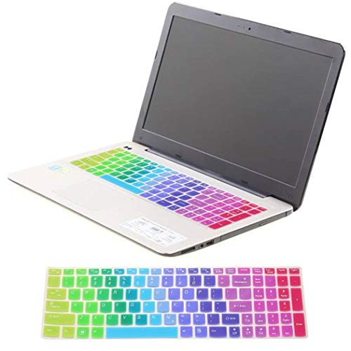 Colorful Arabic English Silicone Keyboard Skin Cover Protector Guard for Lenovo IdeaPad Z560 from MYEDO