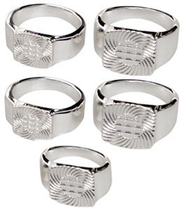 (Find-Its Ring Blanks Sterling Silver Plated Jewelry)