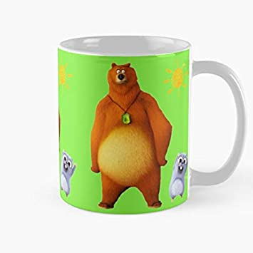 Orangeburps and Paw Happy TV Kids Cocomelon Birthday Patrol Bear Baby Grizzy Youtube Taza de caf/é con Leche 11 oz