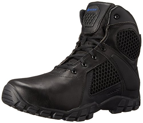 Bates Men's 6 Inch Strike Side Zip Waterproof Tactical Boot, Black, 12 M US