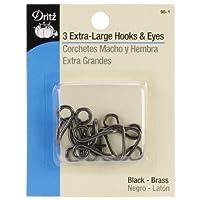 Dritz 98-65 Extra-Large Hook & Eye Closures