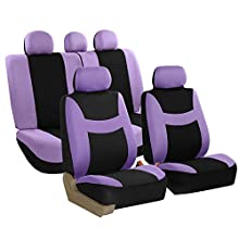 FH Group FB030PURPLE115 full seat cover (Side Airbag Compatible with Split Bench Purple)
