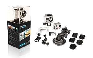 GoPro HD HERO2 Motorsports Edition - Videocámara deportiva con carcasa sumergible Full HD 1080p (11 Mp, 93.5 g) color plateado - kit con sujecciones para deportes de motor [importado]