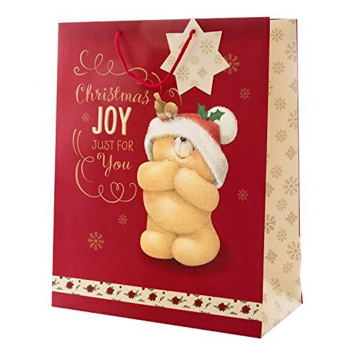 """Hallmark 25496808 Large""""Forever Friends Christmas"""" Gift Bag"""