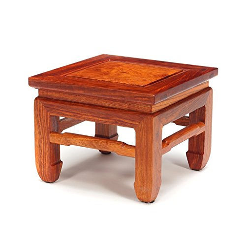 AIDELAI Bar Stool chair- Chinese Hedgehog Rosewood Mahogany Tea Table Square Stool Stool Stool Changing His Shoes Simple Solid Wood Children's Meals High Stool Small Bench Saddle Seat (Size : (Adjustable Height Square Stool)