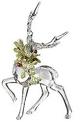 Acrylic Mistletoe Reindeer Figurine
