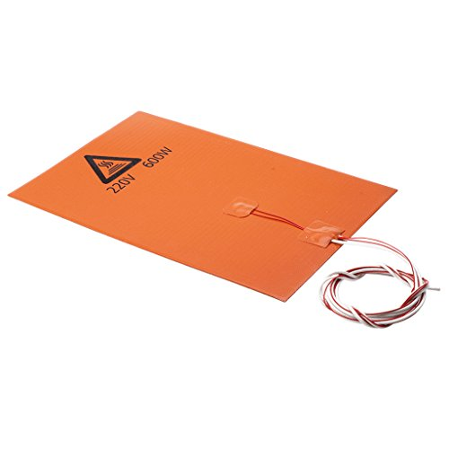 Homyl 200x300mm 600W 220V Silicone Rubber Heater Pad Heating Mat for 3D Printer