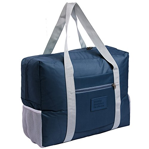 Foldable Travel Bag Tote Lightweight Waterproof Duffel Bag Carry Storage Luggage Portable Folding Bag by VAQM (blue)