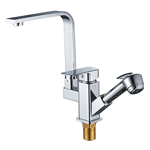 (F.A.N.G.YUN Kitchen Faucet, Washbasin Faucet, Hot and Cold Copper Body General Basin Faucet Faucet Robot with Spray Gun Water)